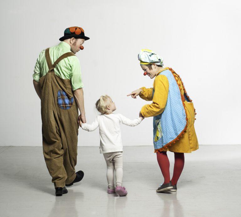 Klovner og barn, Ⓒ Foto Ida Brekke