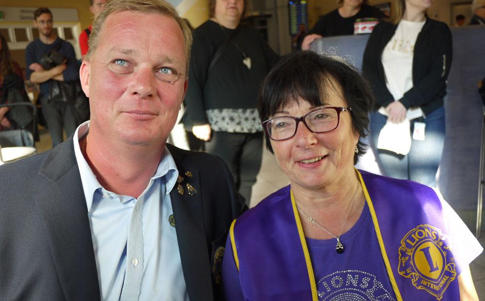 Generalsekretær Hroar Thoprsen og Evy Einarson