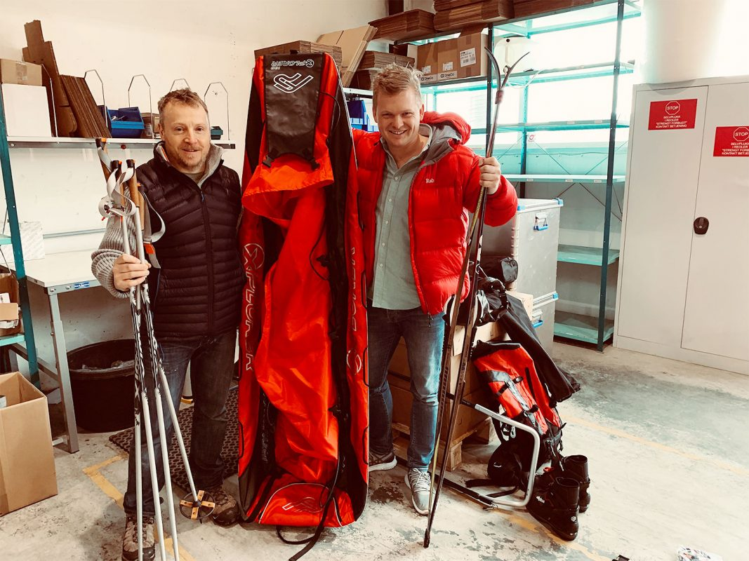 Nicolai Myren og Andrew forbereder Expedition Amundsen